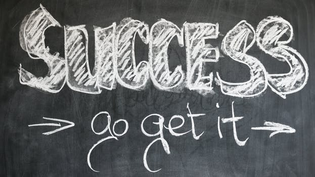 An image of the word success