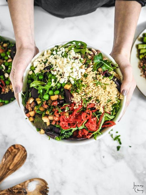 Imagine de stoc gratuită din fotografie alimentară, mâncat sănătos, prânz, salată
