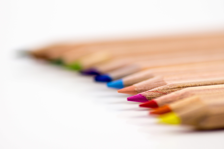 Free stock photo of creative, desk, pens, school