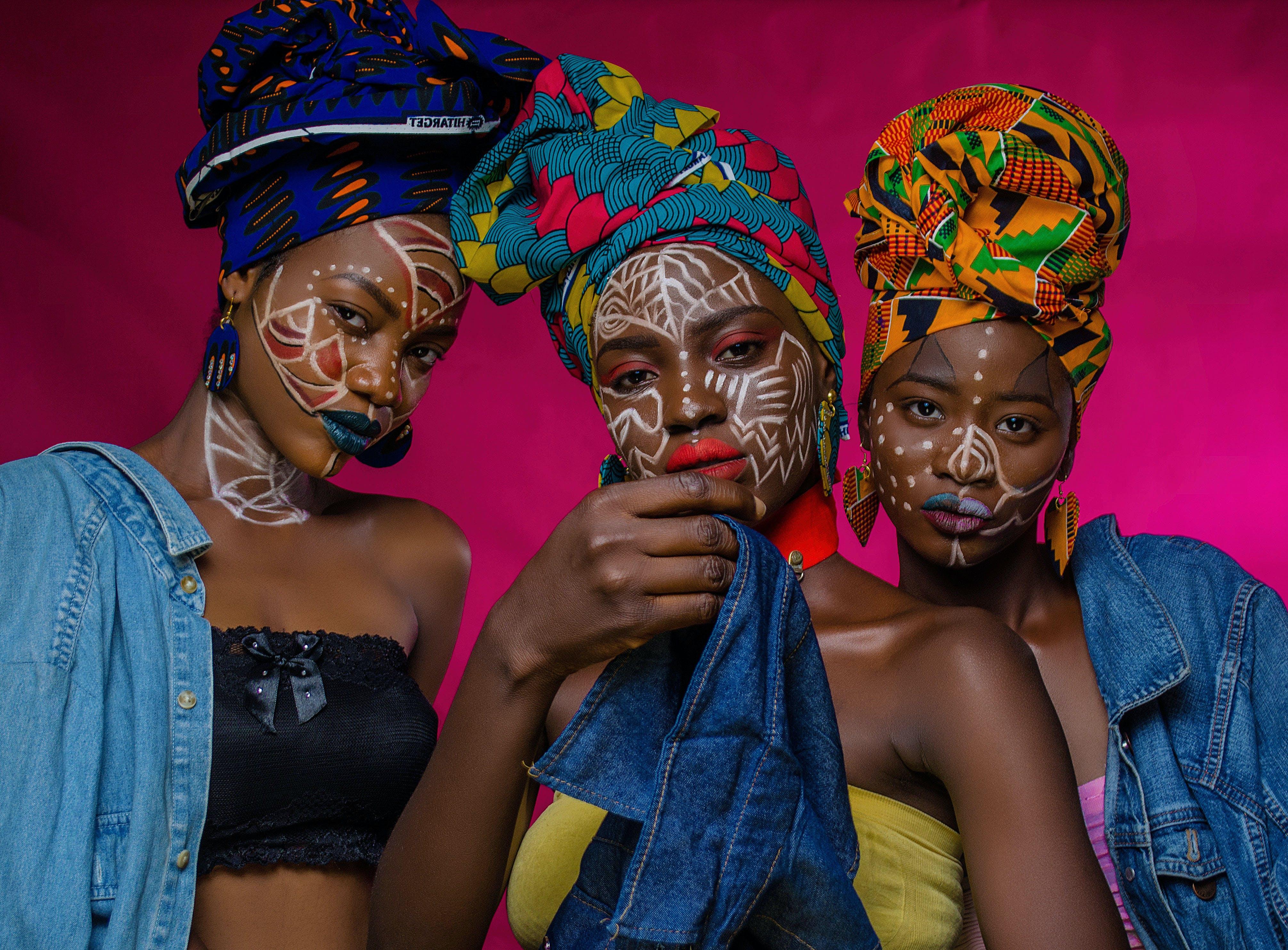 Three Women Wearing Turban