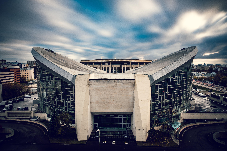 White and Gray Concrete Stadium