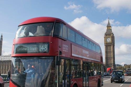 Gratis arkivbilde med big ben, blå himmel, britisk, busser