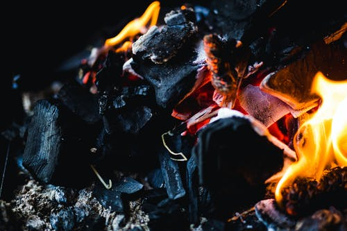 Coal on Fire Photo