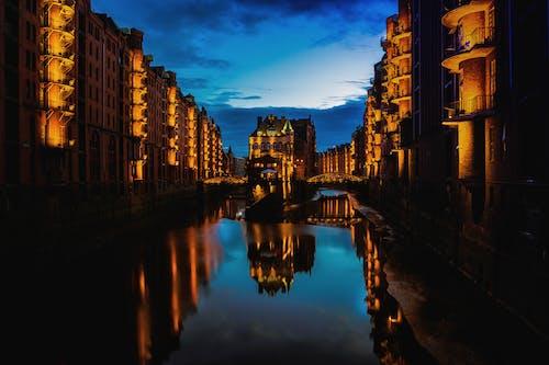 Free stock photo of beleuchtet, Hafencity, hamburg, Nacht