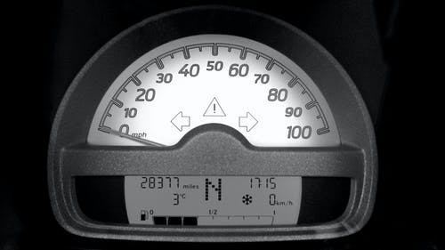 Motorcycle Speedometer at 0