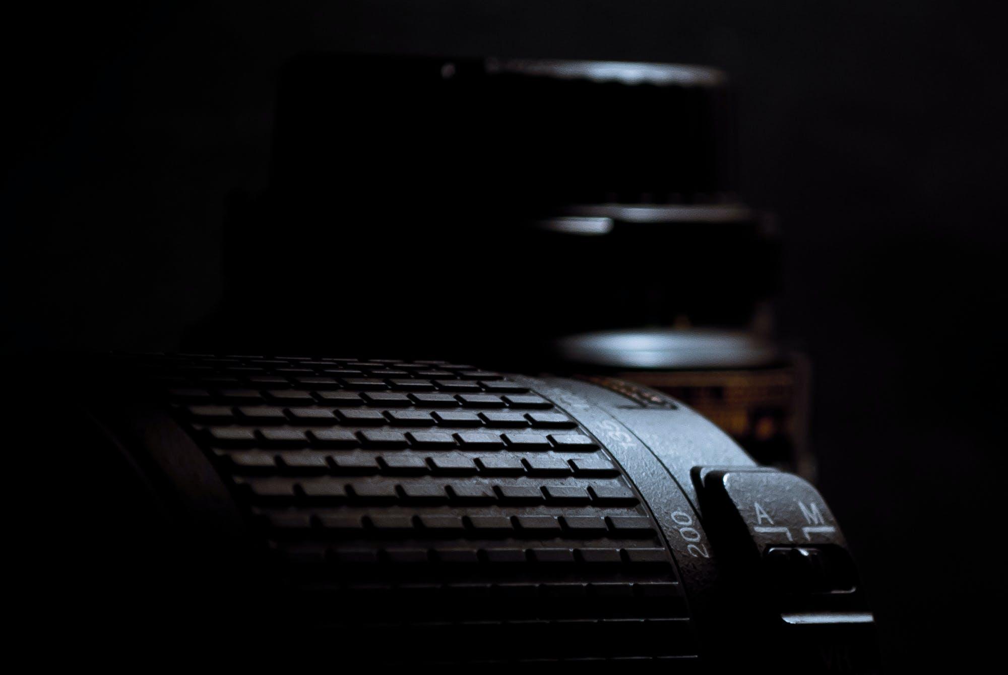 Black Camera Lens Close-up Photo