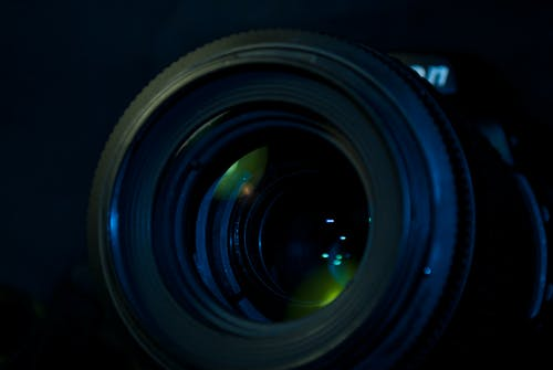 Camera Lens in Close Up Photo