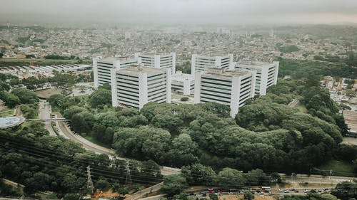 Aerial Photography of White Concrete City Buildings