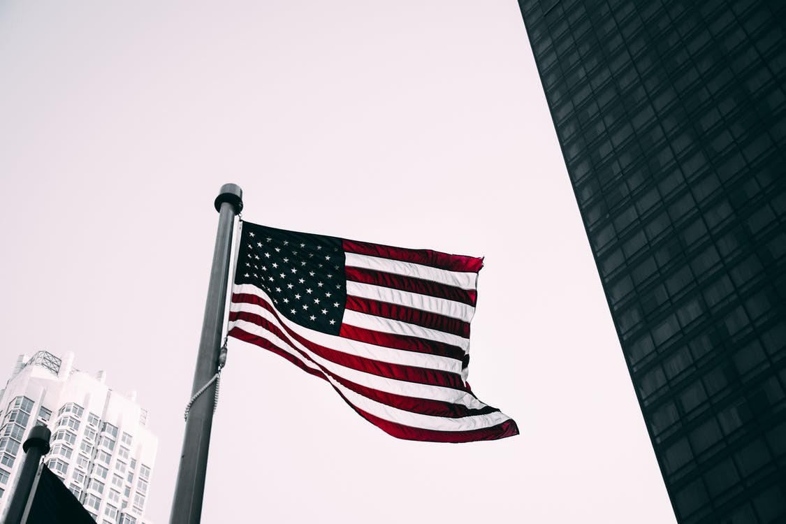 Low Angle Photo of American Flag