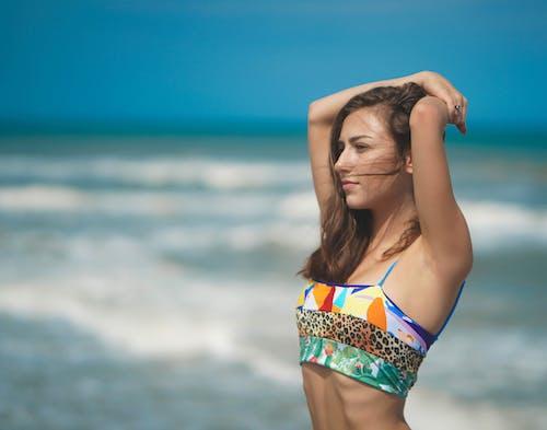 คลังภาพถ่ายฟรี ของ การผ่อนคลาย, ชายหาด, ชุดว่ายน้ำ, ดวงอาทิตย์