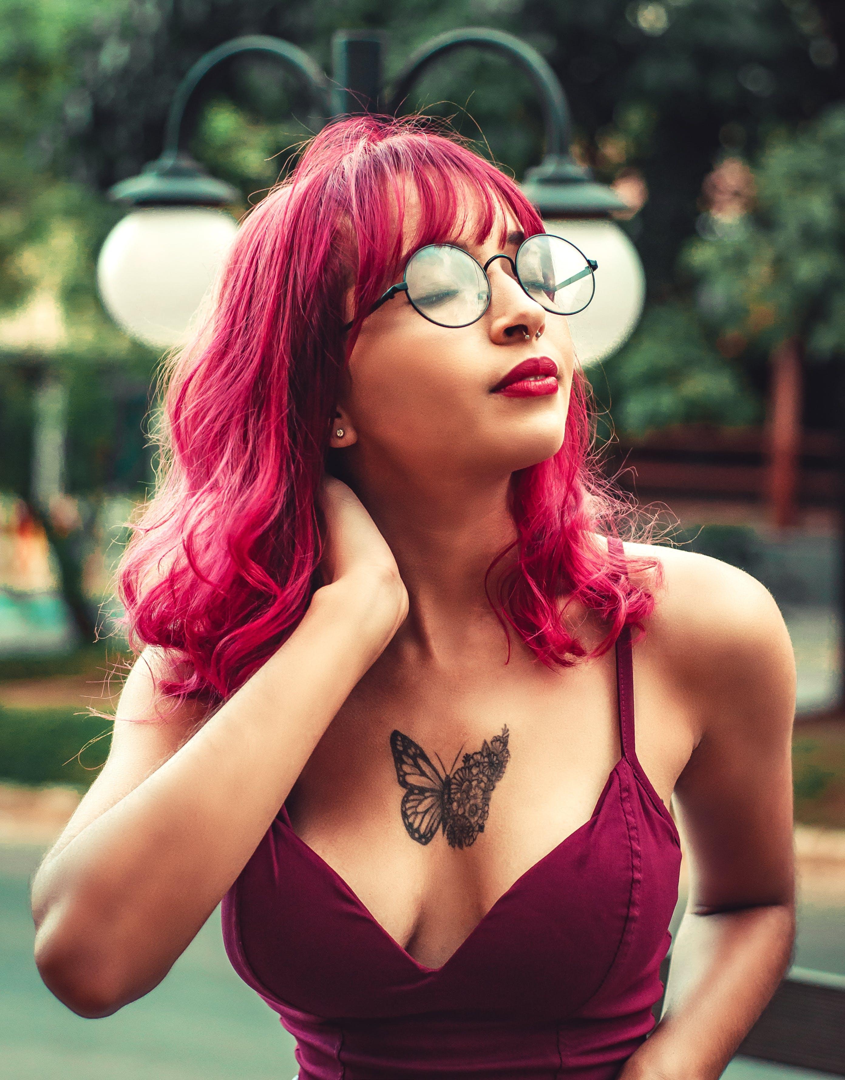 Základová fotografie zdarma na téma brýle, dioptrické brýle, krásná žena, léto