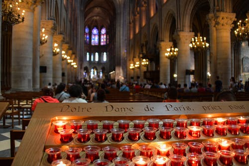 Free stock photo of candle, cathedral, notre dame, notre-dame de paris