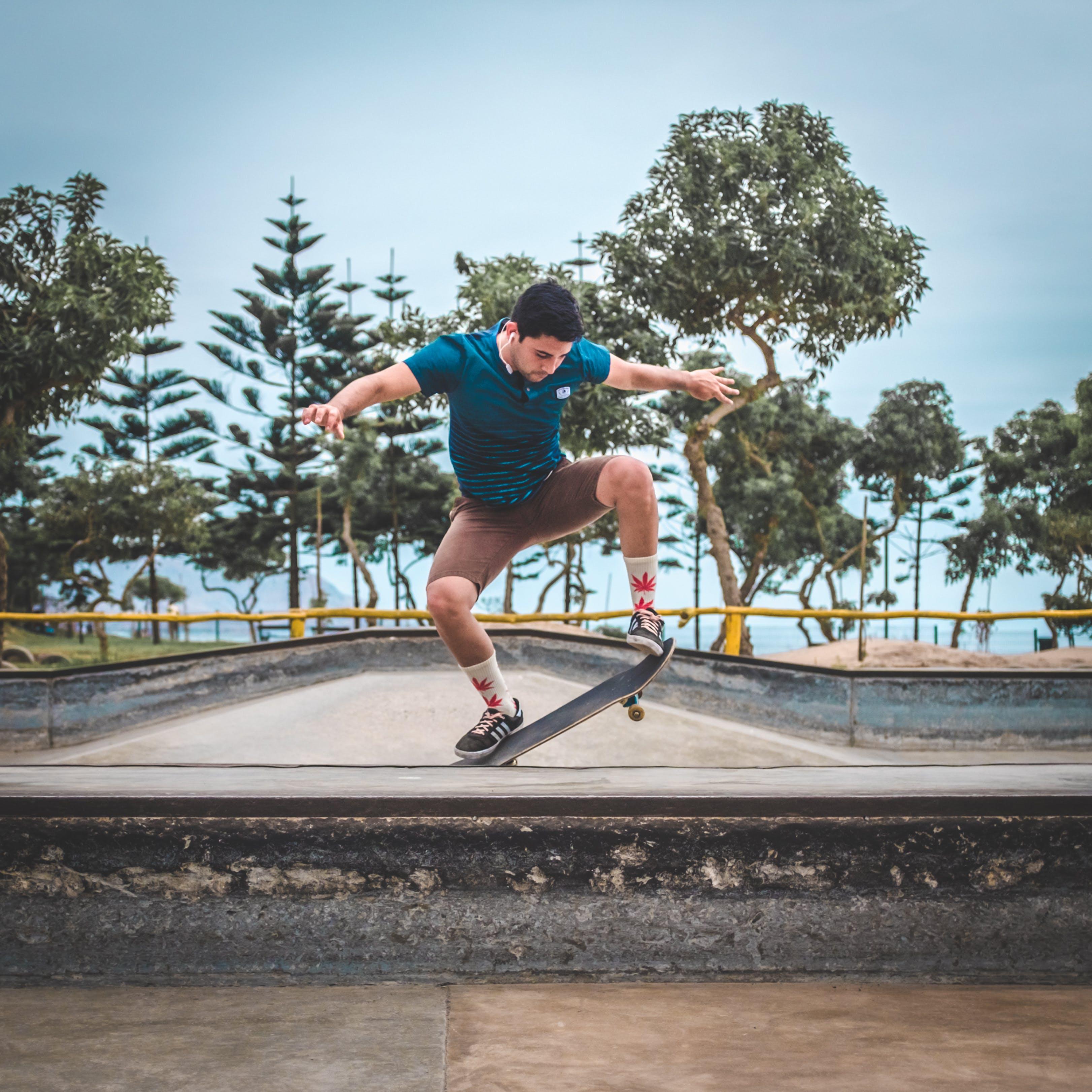 Gratis lagerfoto af hoppe, skatepark, skater