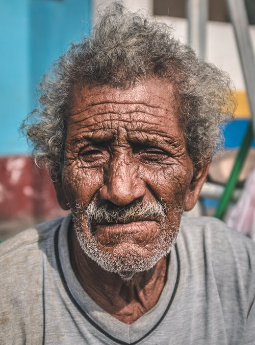 Free stock photo of fisherman, wrinkles