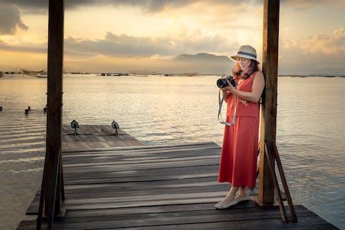 Gratis lagerfoto af anløbsbro, badebro, fotograf, hav