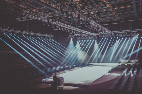 Stage With Lightings