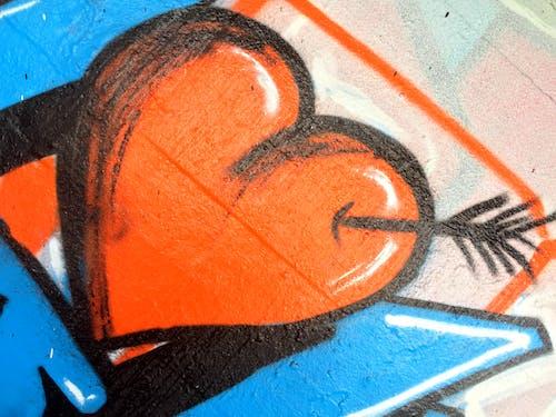 Free stock photo of graffiti, heart, love