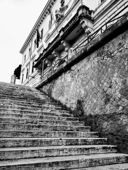 Free stock photo of black and white, italy, stairs