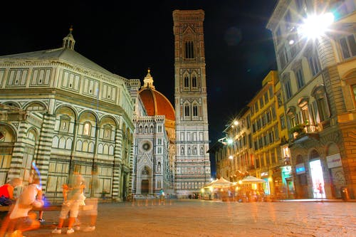 Free stock photo of florence, florence cathedral, night, photographers