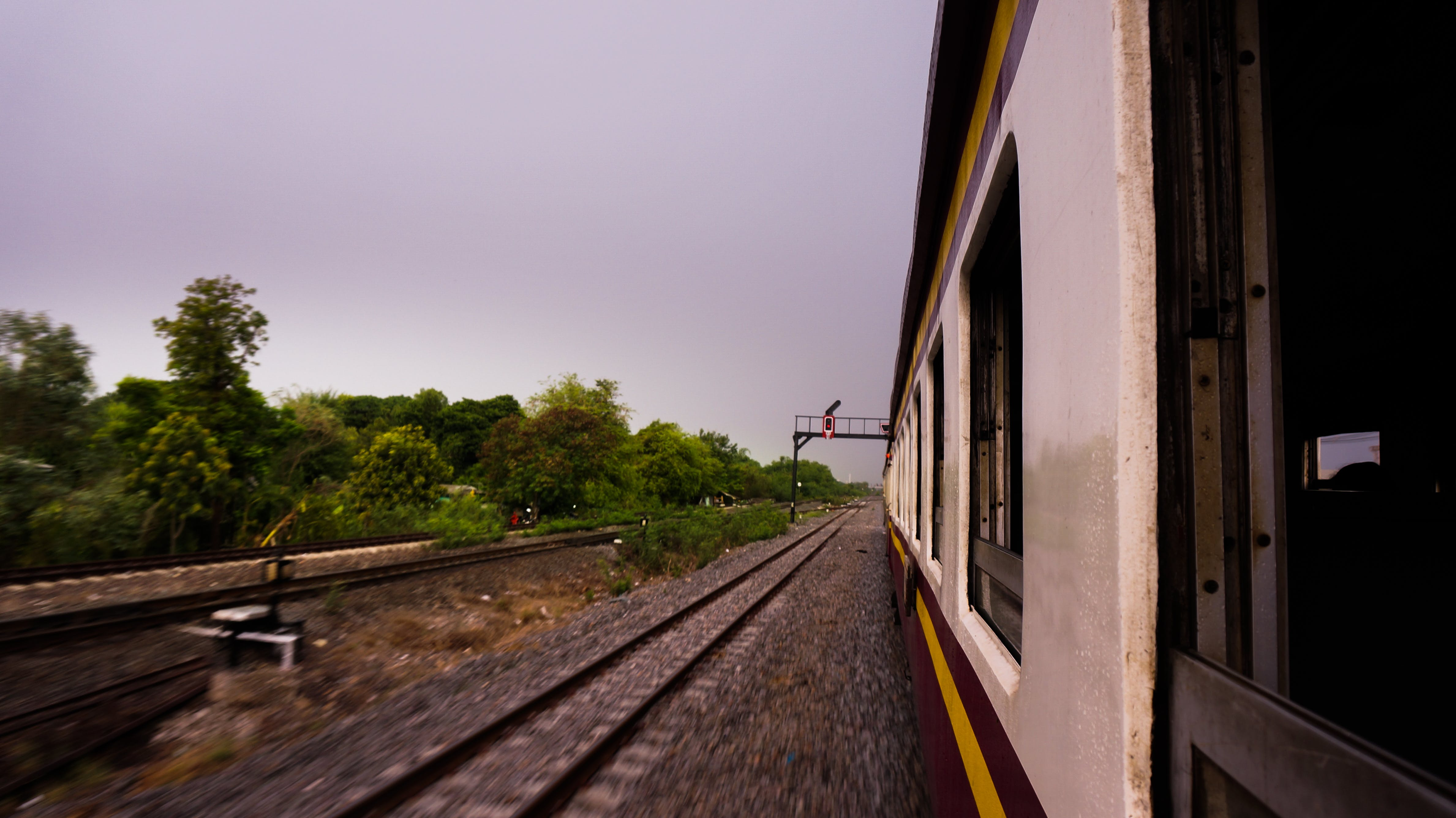 Free stock photo of motion, motion blur, railroad track, train
