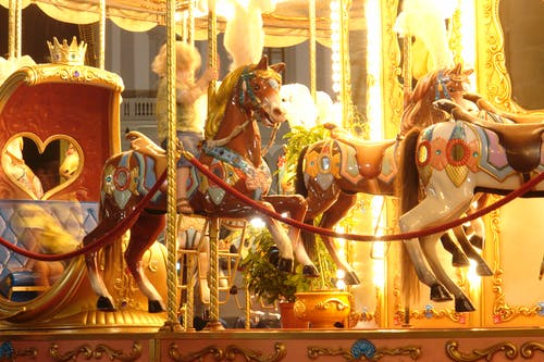 Free stock photo of carousel, florence, horserace