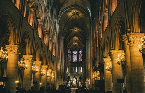 avizeler, bina, dar açılı çekim, din içeren Ücretsiz stok fotoğraf