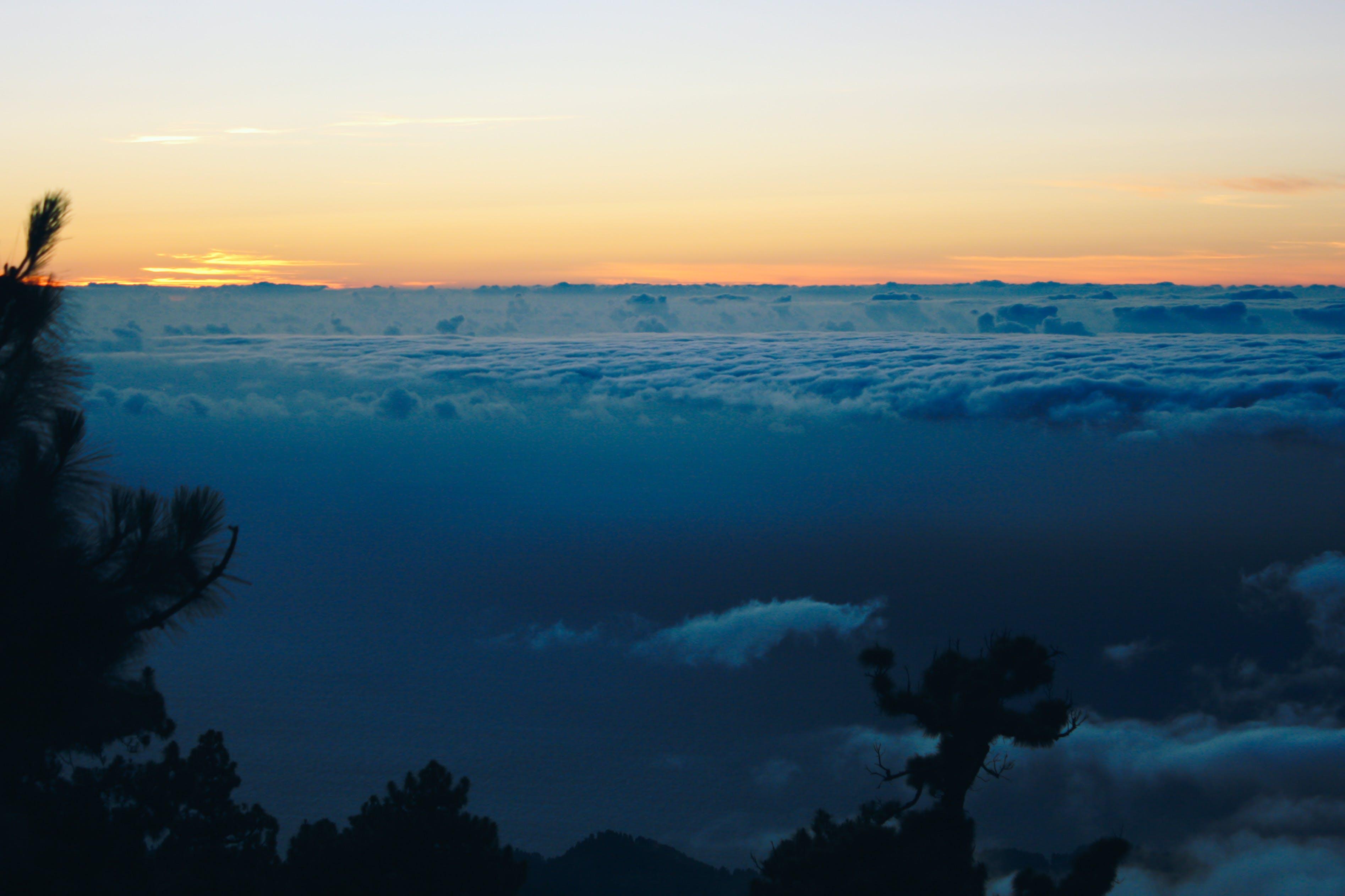 Free stock photo of cloudscape, evening, evening sky, evening sun