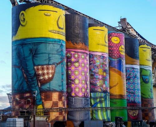 Foto stok gratis gambar jalan, kehidupan kota, kesenian, latar belakang seni