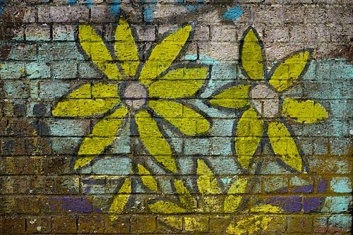 Gratis arkivbilde med blomst, graffiti, gul, maling