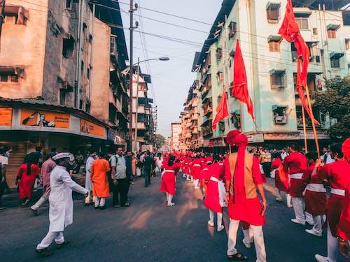 Foto profissional grátis de festa, festival indiano, gudipadwa, rua movimentada