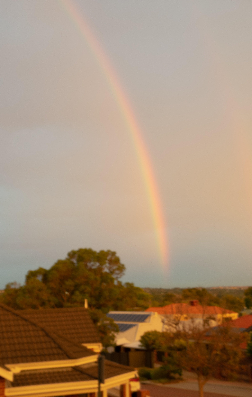 Immagine gratuita di alberi, arcobaleno, bellezza, case