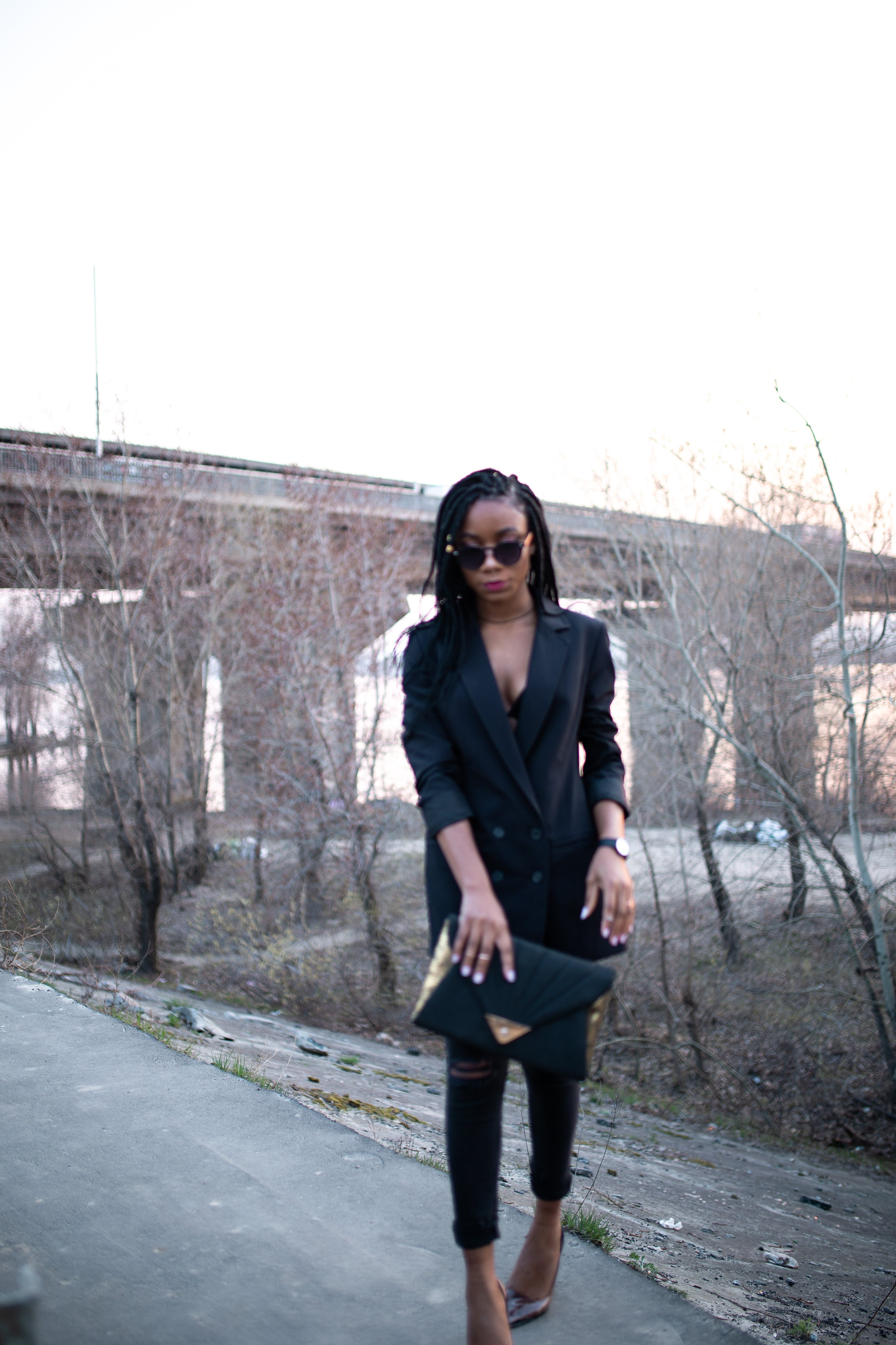 Free stock photo of all black outfit, black clothes, black girl, bossy