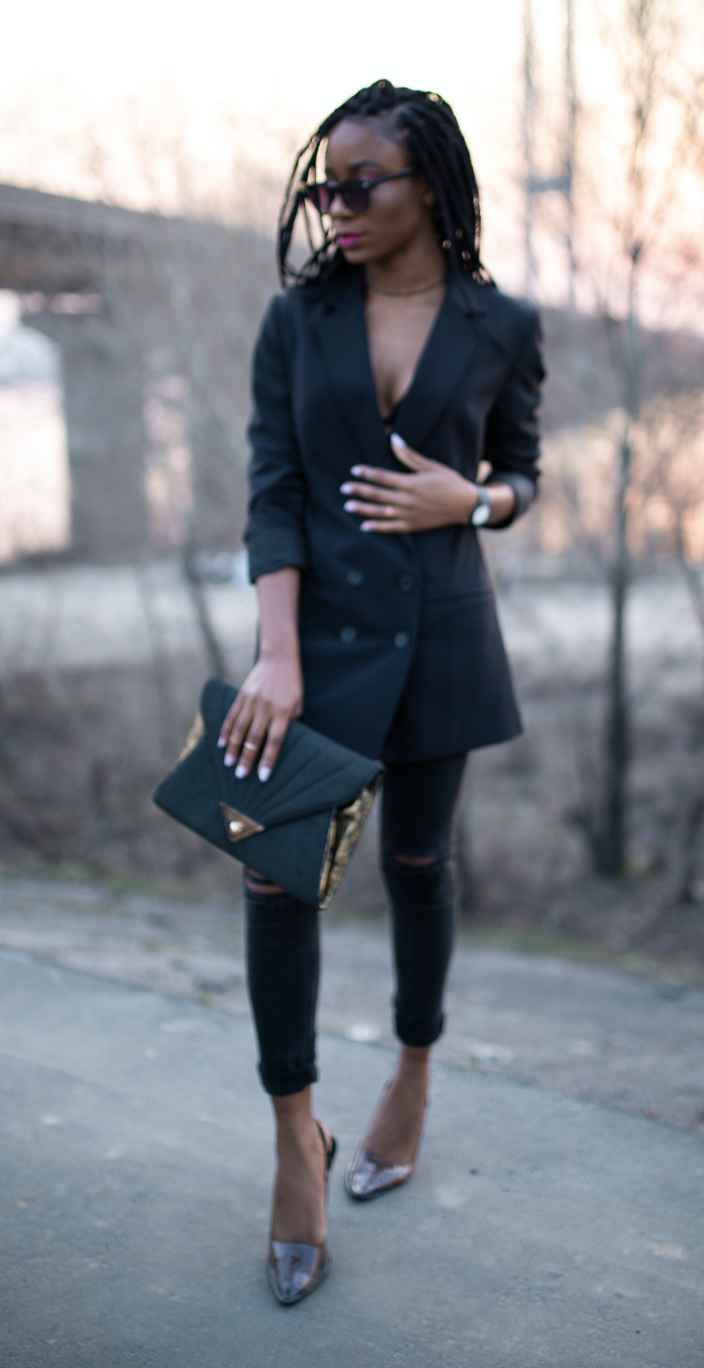 Free stock photo of african girl, all black outfit, beautiful black model, beautiful woman