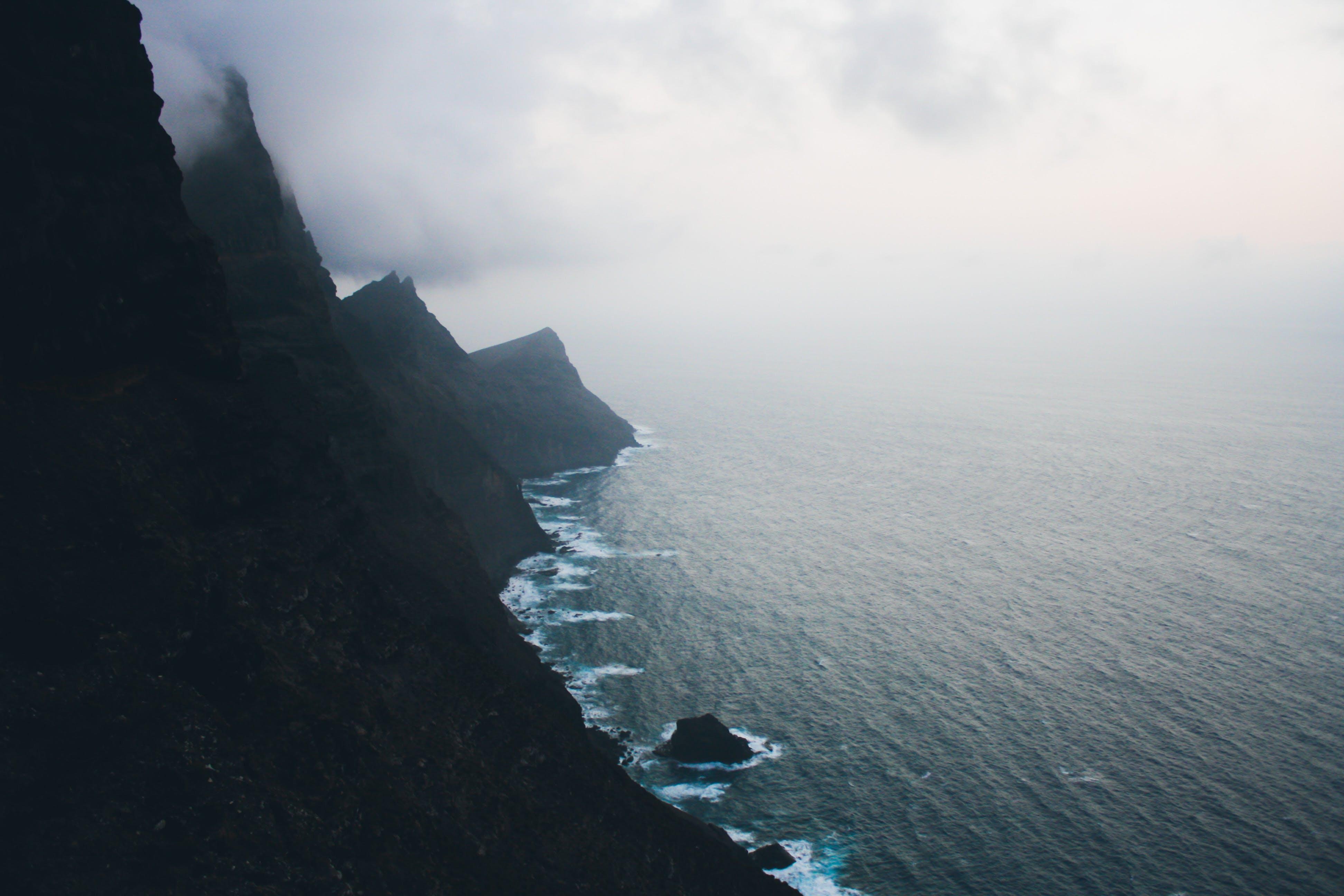 Free stock photo of canary islands, cliff coast, hills, island