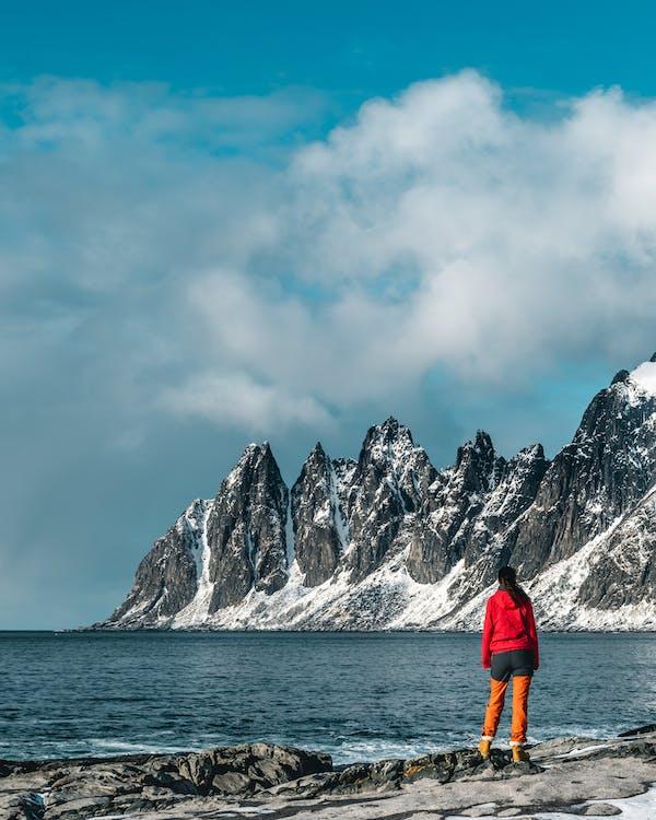 baai, bergen, bergtoppen