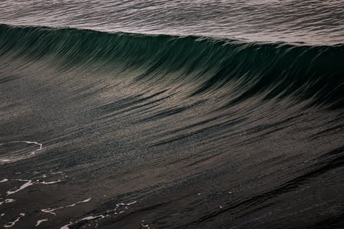 Sea Waves On Focus Photography
