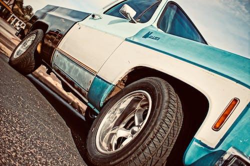 タイヤ, トラック, ビンテージ, ピックアップトラックの無料の写真素材