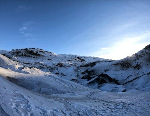 山岳, 氷, 氷河, 雪の無料の写真素材