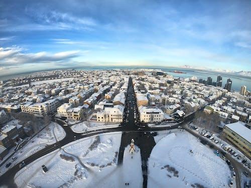 アイスランド, レイキャビク, 街並み, 雪の無料の写真素材