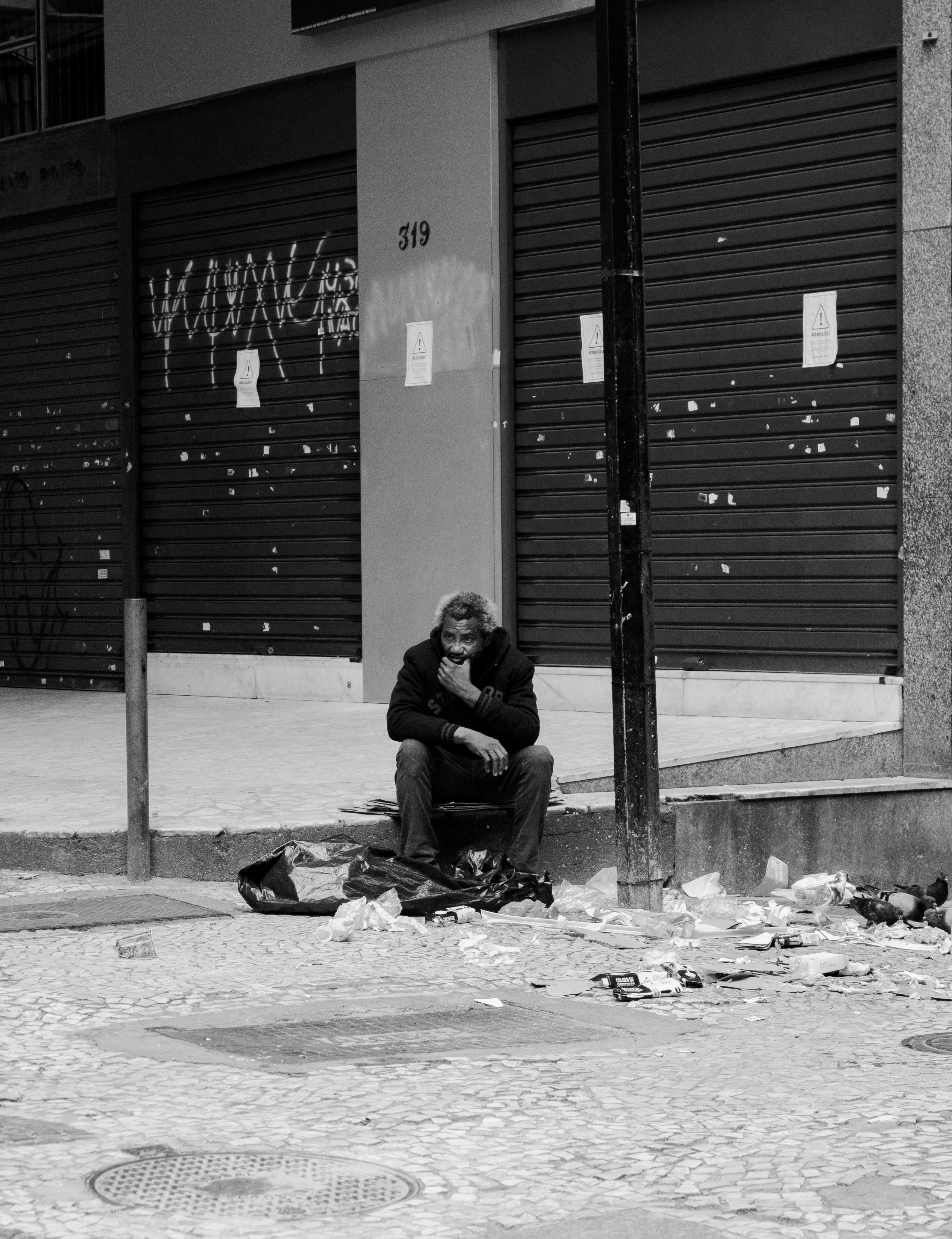 Kostnadsfri bild av gata, hemlös, man, person