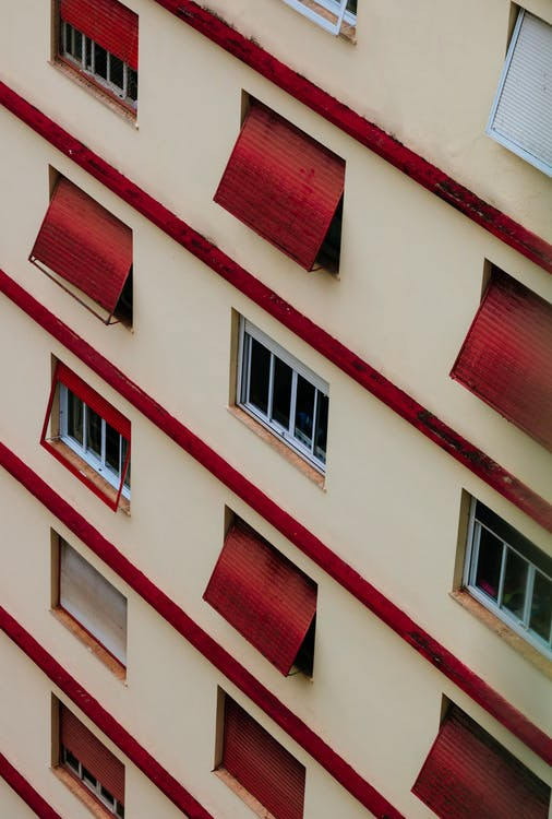 Building With Red Windows