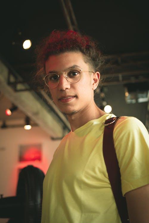 Photo Of Man Wearing Yellow Shirt