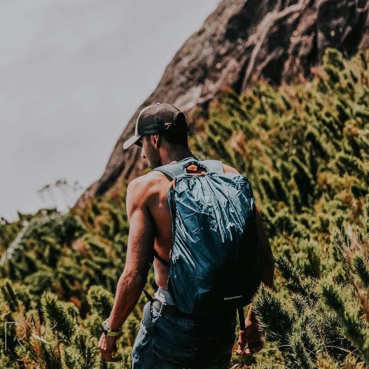 äventyr, backpacker, bergsklättring