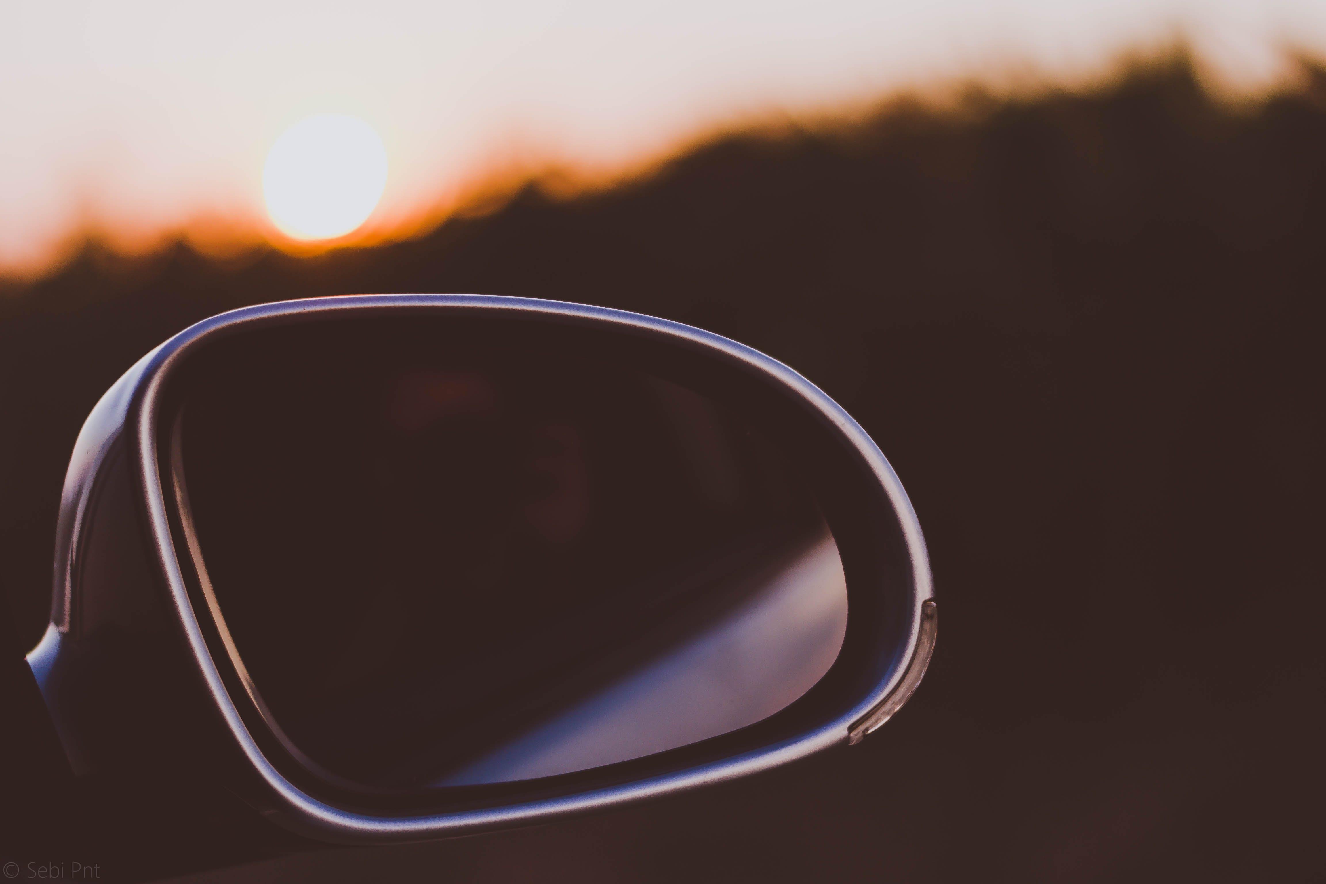 Black Framed Car Side Mirror
