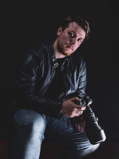 Photo Of Man Wearing Leather Jacket