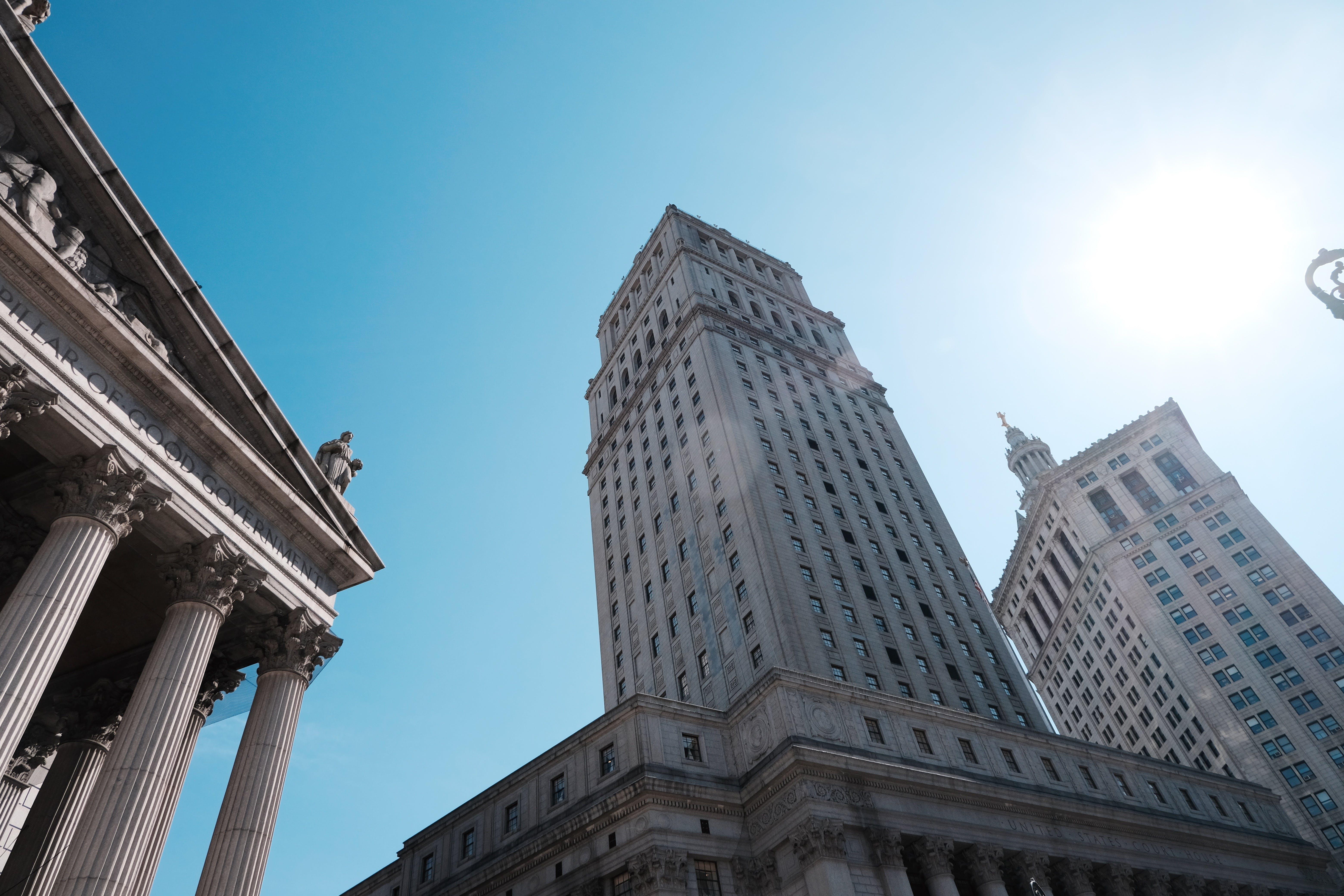 Ilmainen kuvapankkikuva tunnisteilla arkkitehtuuri, keskusta, perspektiivi, pilvenpiirtäjä