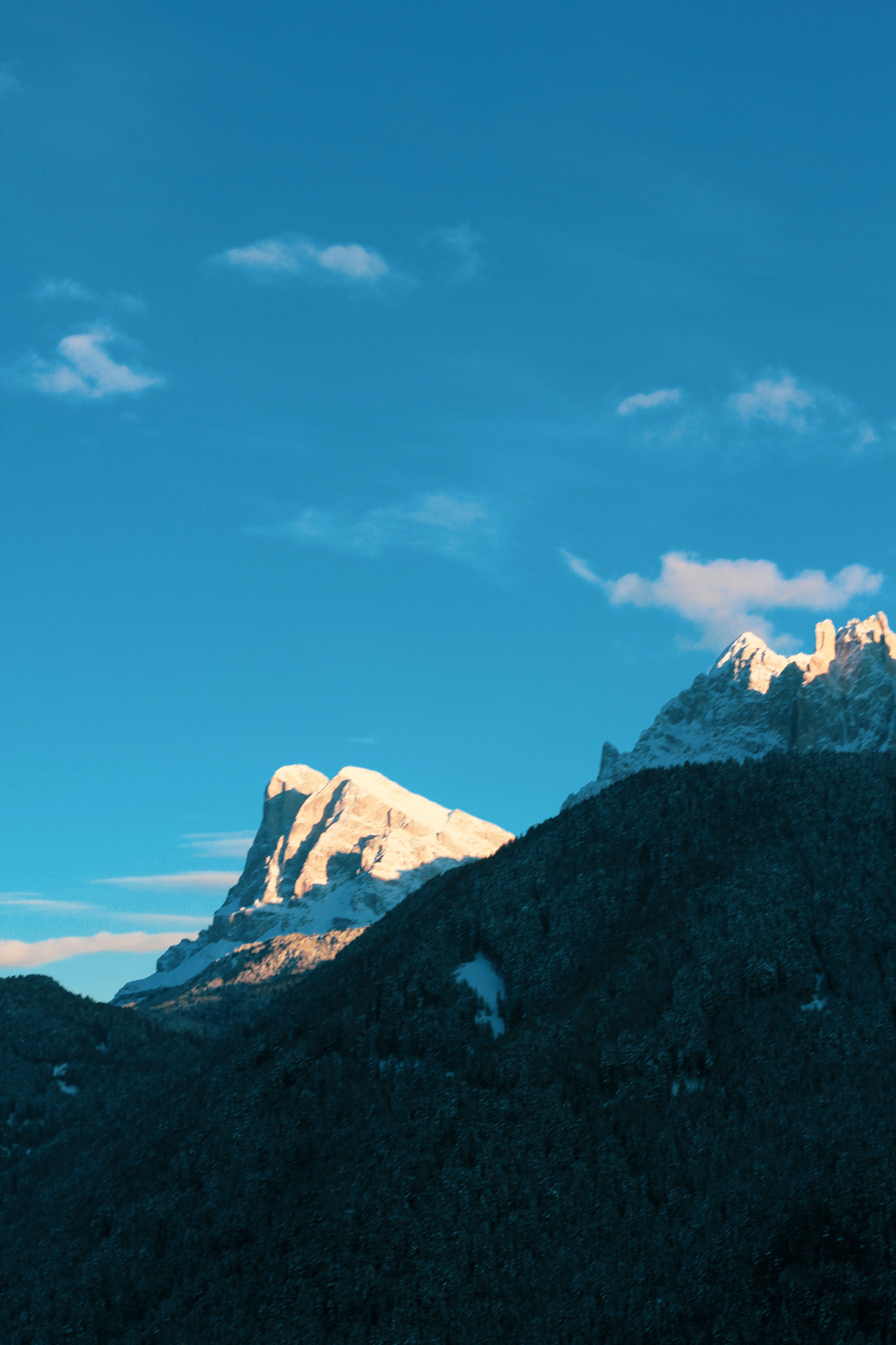 Nature Photography Of Snow Capped Mountain