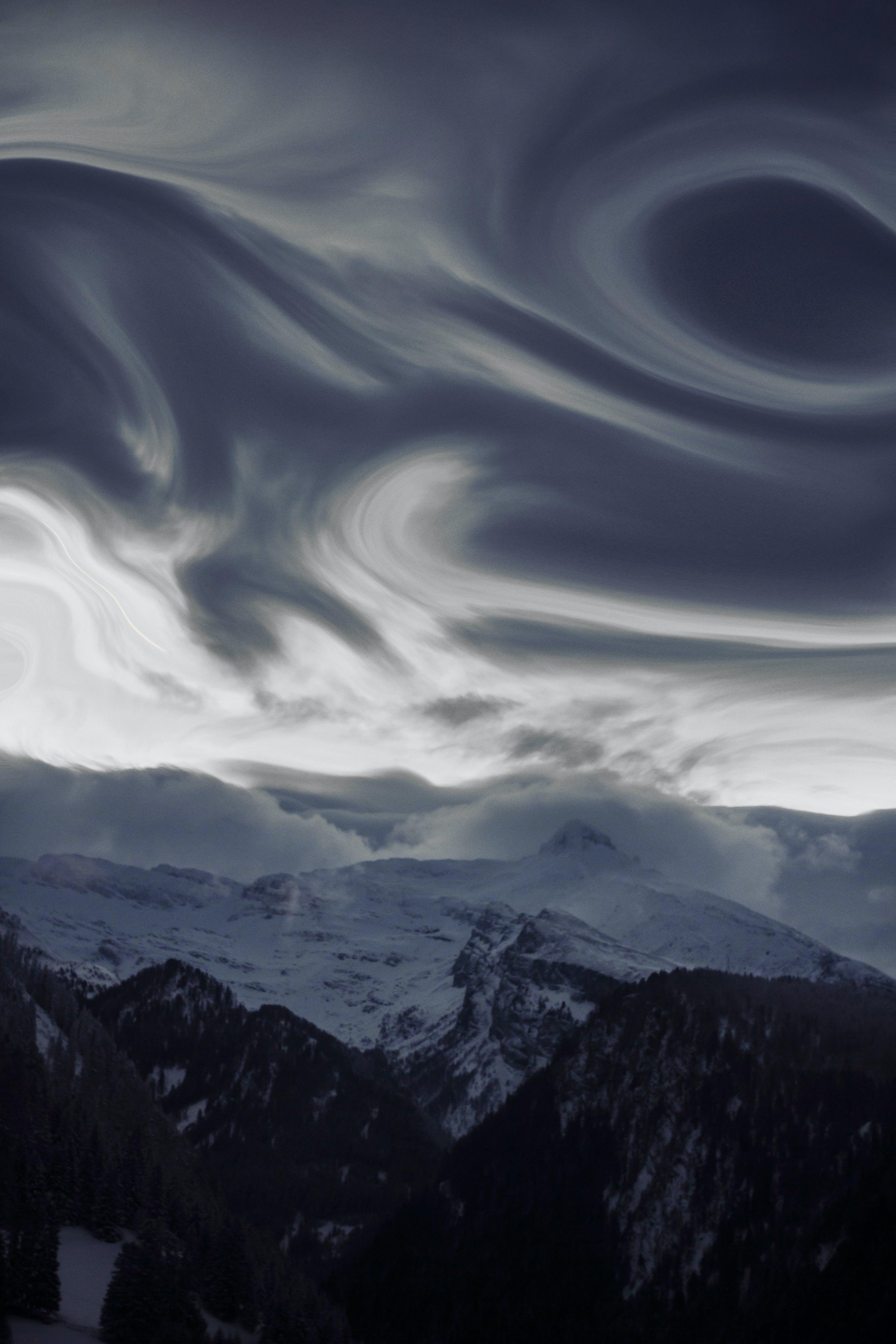 Безкоштовне стокове фото на тему «білий, Буря, величний, вершина гори»