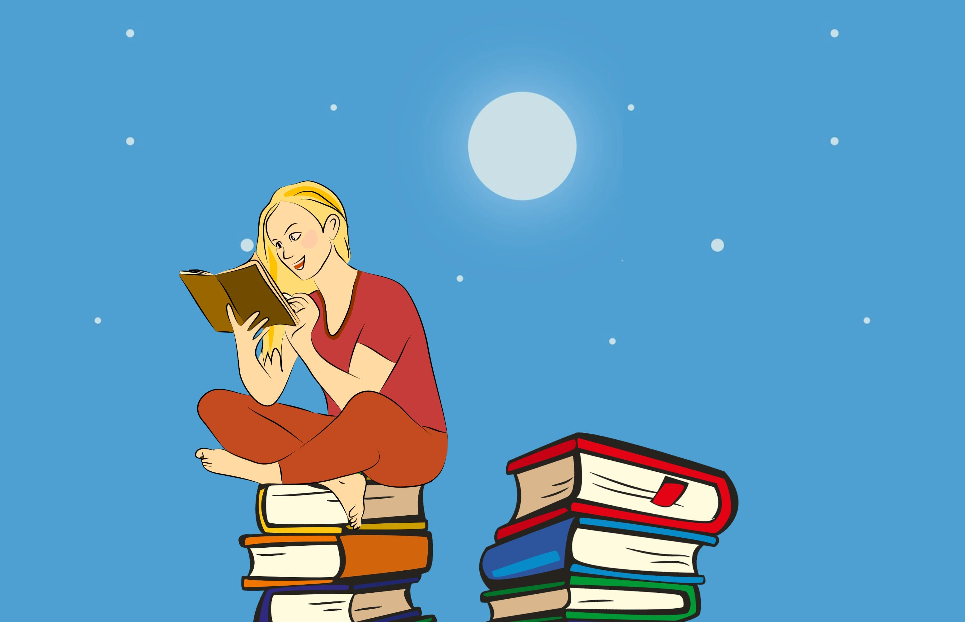 Free stock photo of book, education, female, hobby