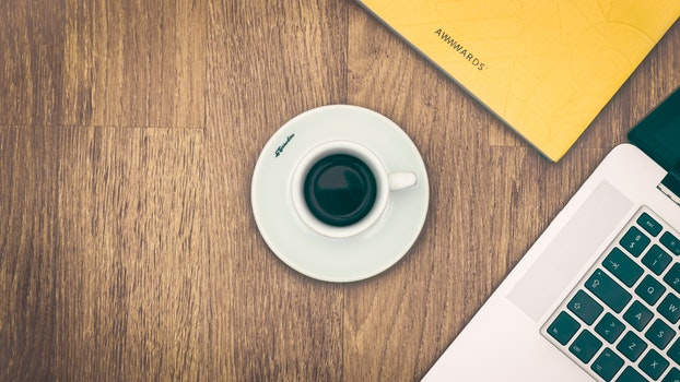 Free stock photo of coffee, notebook, macbook, café